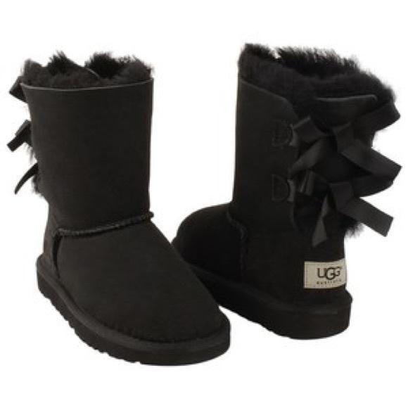25f0d5dbda4 Black UGG Bailey Bow boots